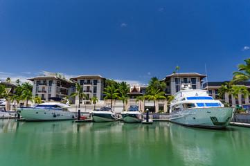 Yacht in Phuket Pier, Phuket, Thailand