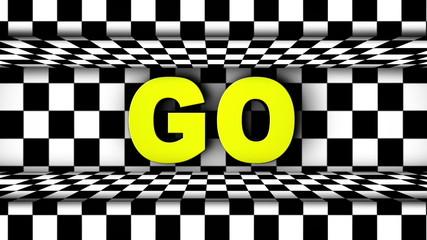 GO Text in Checker Dorr (2 Versions) - HD1080