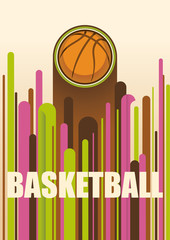 Colorful basketball poster.