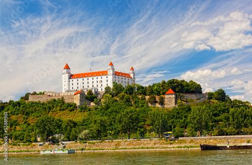 Medieval castle on the hill  Bratislava, Slovakia
