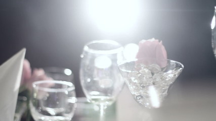 Beautiful clip of serving banquet in white colors