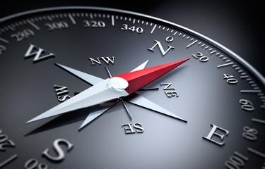 Schwarzer Kompass