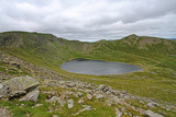 helvellyn and red tarn in lake district, england, united kingdom