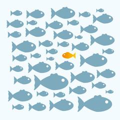 Schwarm Fische anders denken anders sein