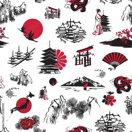 bezszwowe-tlo-z-japonskimi-miniaturami