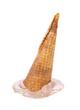 Chocolate ice cream cone fallen
