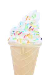 Sprinkle soft serve ice cream
