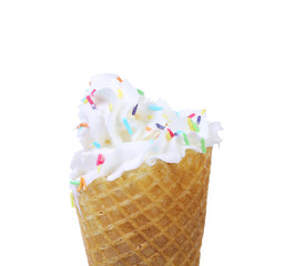 Ice cream isolated on white background