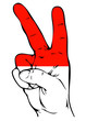 Peace Sign of the Indonesian flag