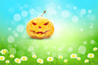 Halloween Background with Pumpkin