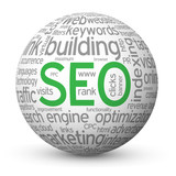 SEO Tag Cloud Globe (search engine optimization website traffic)