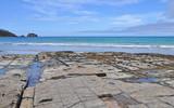 The Tessellated Pavement, natural phenomenon in Tasmania. Landsc poster