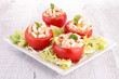 appetizer, stuffed tomato with shrimp
