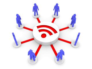 Wireless Internet. Online conference. Concept 3D illustration.