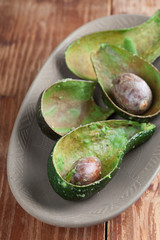 Avocado peelings and stones