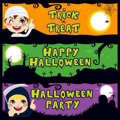 Halloween Children Banners