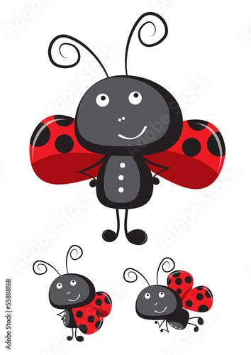 Canvas Lieveheersbeestjes Ladybug vector