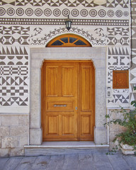 Ethnic style house entrance, Chios island, Greece