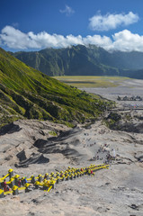 View from Bromo crater, Java, Indonesia