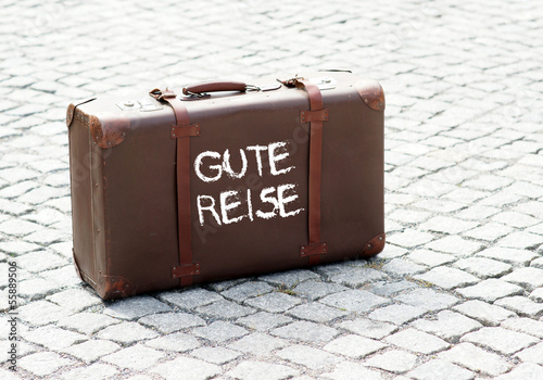 canvas print picture Gute Reise - Koffer