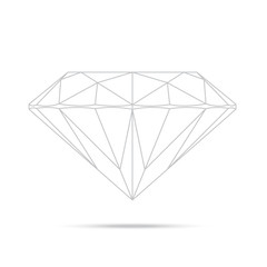 popular drawing line template diamond isolated realistic high qu