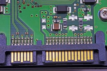 Sata harddisk connector, close up image