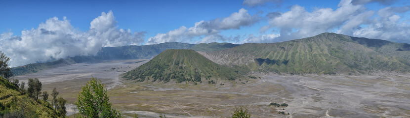 Panoramic view of Bromo from Penajakan, Java