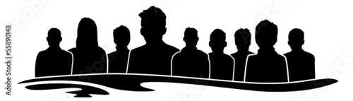 Menschen Gruppe
