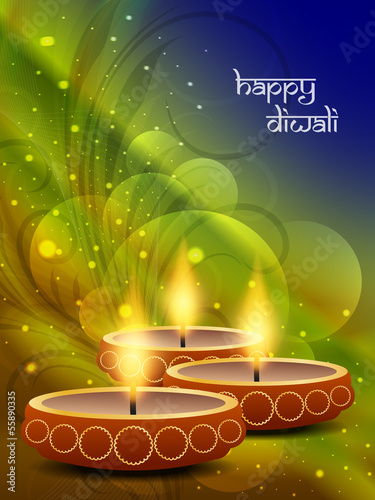 religious artistic background design for diwali festival