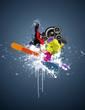 affiche snowboard
