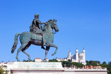 Statue of Louis XIV in Lyon