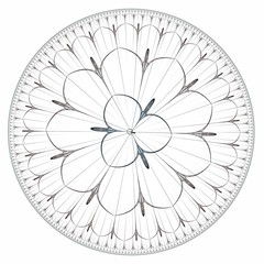 Rose window illustration