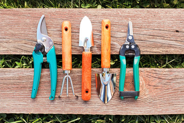 Set of small gardening tools