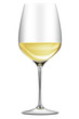 elegantes Weißweinglas