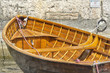 Old rowing boat color image