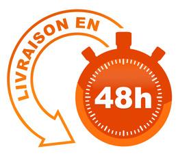 livraison en 48 heures sur symbole validé orange