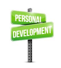 personal development road sign illustration