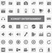 Website Iconset - Entertainment 44 Basic Icons