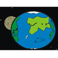 satellite earth vector illustration