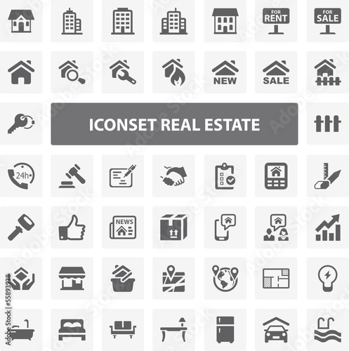 Website Iconset - Real Estate 44 Basic Icons