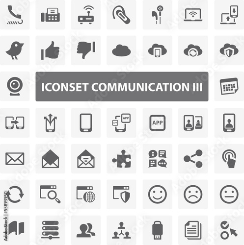 Website Iconset - Communication III 44 Basic Icons