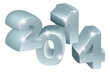 Silver 3D 2014 Ornaments