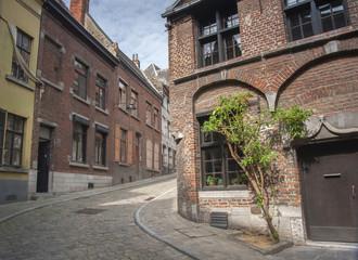 Cobbled street in Mons, Belgium