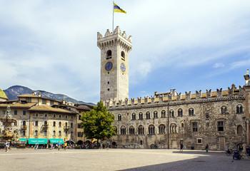 Trento-Piazza duomo castle color image