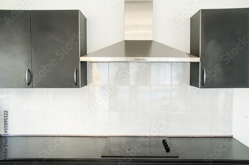 Cooker hood in kitchen room