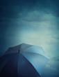 Dark clouds and umbrella
