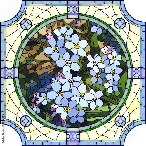 wektorowa-ilustracja-kwiat-blekitna-niezapominajka