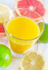 juice with fruit