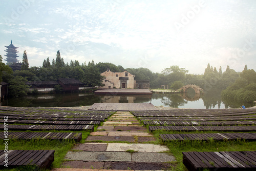 Ancient theater on the water - Wuzhen - China
