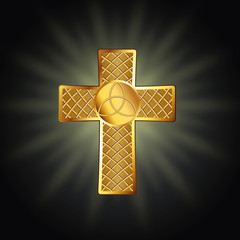 Golden celtic cross
